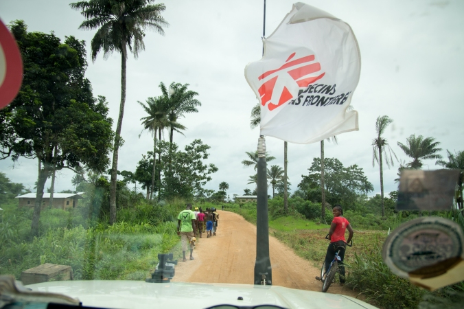 On the road to Kailahun, Sierra Leone.